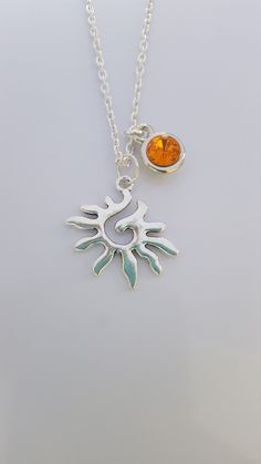 sun necklace ,sun pendant ,dainty sun pendant -silver sterling sun pendant-birthstone necklace,birthstone pendant ,birthstone jewellery.gift Birthstone Necklace, Birthstones, Pendant Necklace, Trending Outfits, Unique Jewelry, Handmade Gifts, Etsy, Vintage, Fashion