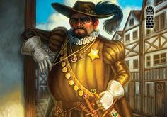 It's the corrupt Sheriff from the City - Talisman Board Game.