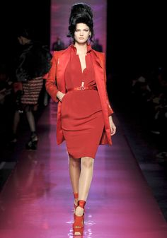 Fierce! Jean Paul Gaultier Spring/Summer 2012 inspired by Amy Winehouse. The whole show is fabulous, btw.