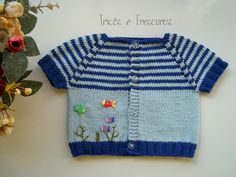 Tricôs e Frescuras - Artesanato para Bebês: Camiseta para Bebê Peixinhos