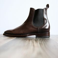A polished boot for him; the Weston Chelsea   The Frye Company