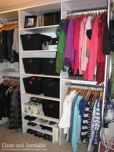 Clean U0026 Scentsible: Master Closet Organization. Since Her Closet Is About  The Size Of My Whole Bedroom My Closet Definitely Wonu0027t Look Like This But  I Hope ...