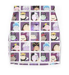 """Disney Villain Profile"" Pencil Skirts by LaurasLovelies | Redbubble"