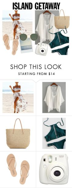 """Untitled #65"" by sara-23-26 on Polyvore featuring Polaroid, Tkees, Fujifilm and Ray-Ban"