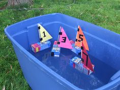 Frugal Summer Kid Craft: Juice Box Boats | Pinching Your Pennies