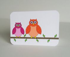 Owl Note Cards  Set of 10 Colorful Owl by IdAndEgoCreations, $16.00
