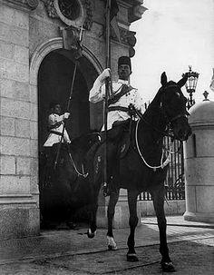 Mounted Royal Body Guard Abdeen Palace, Cairo Egypt 1939.