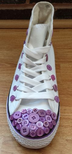 Hitop trainers with button detail by MaxiBling on Etsy, £24.99