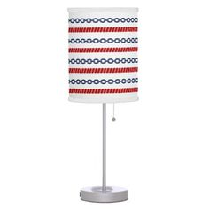 #home #lamps #decor - #Blue Chain and Red Rope Nautical Table Lamp