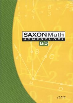 Saxon Math 6/5 Homeschool Student textbook 3rd edition. Item #: SX1591413184B Retail Price: $26.75 Our Price: $13.38