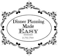 Dinner Menu Planning Made Easy.  Four weeks of dinner recipe ideas!