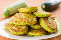 Vegetarian Recipe: Zucchini Fritters -- Looking for ways to use zucchini this summer? Try making a big batch of zucchini fritters – basically like zucchini pancakes, which work great for breakfast, lunch, or dinner.