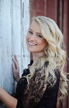 Senior photo - love the hair I hope mine's grown out by this spring!!!!!