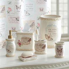 Butterfly Moments Bath Collection | Croscill #bath #bathdecor #decor # Bathroom #bathroomaccessories