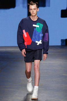 Menswear trend: Shorter shorts. Seen here at Christopher Shannon.