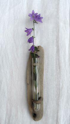 Driftwood Beach Decor Vase Wall Hanging Art