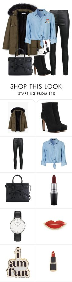 """Untitled #1632"" by mihai-theodora ❤ liked on Polyvore featuring MANGO, Prada, Veronica Beard, Yves Saint Laurent, MAC Cosmetics, Daniel Wellington, Georgia Perry and ban.do"