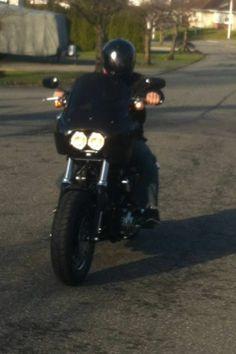 "Conelys T-Sport Fairing for Harley Davidson Fat Bob, Dyna, 14"" windshield"