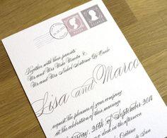 calligraphy wedding invitation love letter design one sample