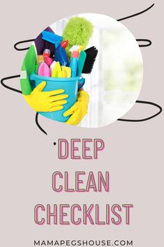 Are you looking for some inspiration to help you to give your home a good deep clean? We have the best deep clean checklist that will help you get your home sparkling | cleaning tips | cleaning #cleaning hacks #cleaning home tips #cleaning list Deep Cleaning, Cleaning Hacks, Cleaning Supplies, Best Cleaning Products, Inspiration, Biblical Inspiration, Cleaning Agent, Inspirational, Inhalation