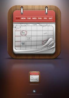 Calendar icon by Tobias Holmgren, via Behance