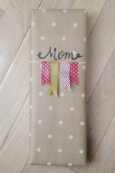 Use washi tape to make a cute flag banner on packages.