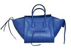Celine Electric Blue Runway Smooth Leather Medium Phantom Bag