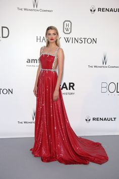 Lily Donaldson in Prada at the 2016 Cannes amfAR Gala Gala Dresses, Red Carpet Dresses, Vestidos Fashion, Fashion Dresses, Vestidos Elie Saab, Elegant Dresses, Nice Dresses, Haute Couture Dresses, Celebrity Red Carpet