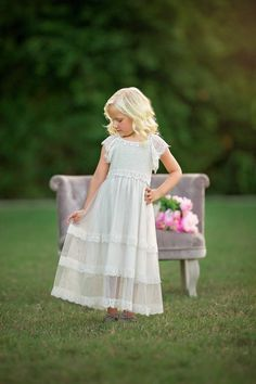 A-line Tulle Lace Junior Bridesmaid Dress