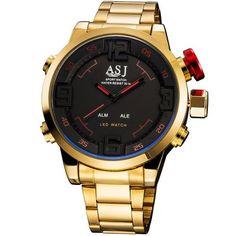 59085cf25e8 Relogio ASJ Dourado Digital - Dali Relógios