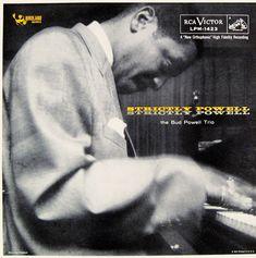 Bud Powell- Strictly Powell. Label: RCA Victor LPM 1423 (1957) Design: Burt Goldblatt.