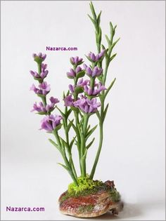 Air Dry Clay Tutorials: Craft Some Lavender Sprigs with Air Dry Clay 2019 Air Dry Clay Tutorials: Craft Some Lavender Sprigs with Air Dry Clay The post Air Dry Clay Tutorials: Craft Some Lavender Sprigs with Air Dry Clay 2019 appeared first on Clay ideas. Fondant Flowers, Clay Flowers, Sugar Flowers, Polymer Clay Sculptures, Sculpture Clay, Lavender Buds, Lavender Flowers, Polymer Clay Projects, Clay Crafts