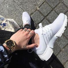 Sneakers women - Nike Air Presto Triple White by holycamille