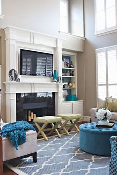 Round out a big seating plan with a pair of X-benches. Tucked in front of the fireplace or filling an empty spot across from a pair of armchairs, these versatile little seats can also fill in as footstools or side tables.