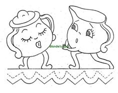 Hand Embroidery Pattern 9611 Animated Anthromorphic Dishes for Dish Towels 1940s | eBay