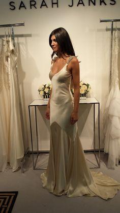 Bias-cut silk charmeuse is so divine...and glamorous! Sarah Janks Art Deco Wedding gown - Daxa