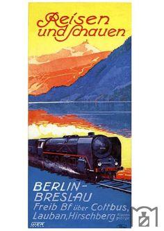 """""""Reisen und schauen""""von Berlin nach Breslau Werbung 1937"""