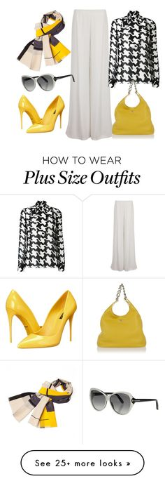 """black meet white n yellow...fantastic!"" by noviandri-ronal on Polyvore featuring Elvi, Dsquared2, Dolce&Gabbana, Prada, Infinity and Tom Ford"
