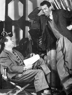 Frank Capra and James Stewart, director and star of Mr. Smith Goes to Washington