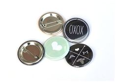 cute buttons for favors by Smitten on Paper