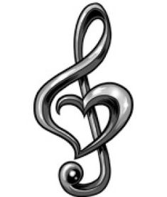 Read Complete Awesome Black And Grey Treble Clef Heart Tattoo Design By Bailey Zwick