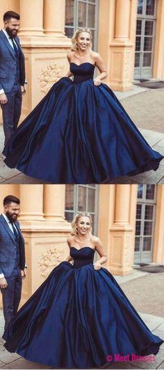 navy blue prom dresses, long prom dresses, ball gowns prom dresses, womens prom dresses PD20188464