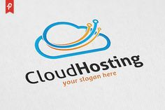 Cloud Hosting Logo by@Graphicsauthor