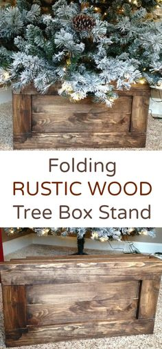 I would LOVE to trade out my tree skirts for boxes! I especially love the white box - it would go so well with my turquoise and gold tree with burlap and lace. :) Wooden boxes come in 5 different beautiful stain colors.  #treestand #christmasdecor #christmas #rusticdecor #farmhouse #oybpinners #ad