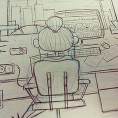 Editorial Sketch, Andrew Kolb