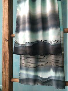 Arctic horizons. Hand dyed silk. www.stonewellstudio.com