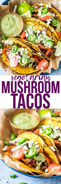 Vegetarian portobello mushroom fajita tacos are quick, easy and super healthy and will disappear in minutes. The mexican flavours in these tacos are amazing, and these are perfect for both meatless mondays and taco tuesdays! via @my_foodstory