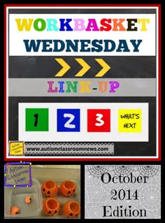 Workbasket Wednesday--October 2014 Edition by Autism Classroom News at http://www.autismclassroomnews.com