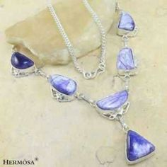 Lovely .925 Sterling Purple Jasper Necklace 18 In. Lovely .925 Sterling Silver Purple Jasper Necklace 18 Inch. Jewelry Necklaces