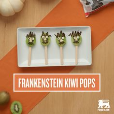These adorable kiwi pops are a healthy alternative to all that Halloween candy. And with a bit of dark chocolate and silly faces, they're just as fun to eat. Serve them at your holiday bash or let the kids help for a fun afternoon activity and healthy treat.